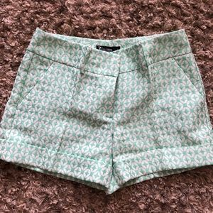 Mint green dress shorts